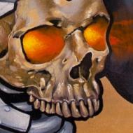 Barbarian skull
